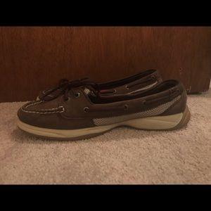 Women's 9.5 Dark Brown Leather Sperry's